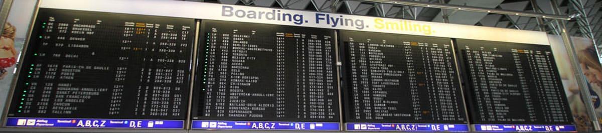 Abflug Flughafen Frankfurt Airport FRA